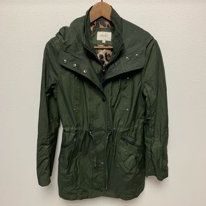 Laundry by Shelli Segal Green Hooded Anorak Jacket